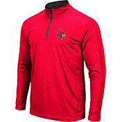 Colosseum Men's Louisville Cardinals Cardinal Red Loggerhead Quarter-Zip Shirt