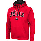 Colosseum Men's Louisville Cardinals Cardinal Red Pullover Hoodie