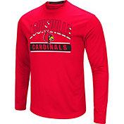 Colosseum Men's Louisville Cardinals Cardinal Red Ganges Long Sleeve T-Shirt