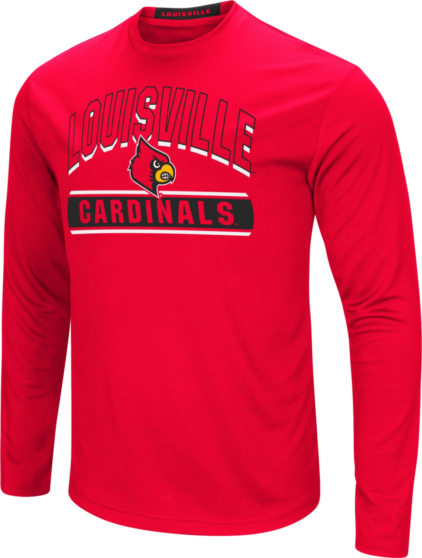 Colosseum Men's Louisville Cardinals Cardinal Red Ganges Long Sleeve T-Shirt