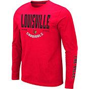 Colosseum Men's Louisville Cardinals Cardinal Red Streetcar Long Sleeve T-Shirt