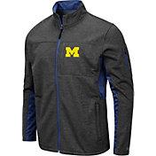 Colosseum Men's Michigan Wolverines Grey Bumblebee Man Full-Zip Jacket