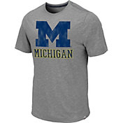 Colosseum Men's Michigan Wolverines Grey Campinas T-Shirt