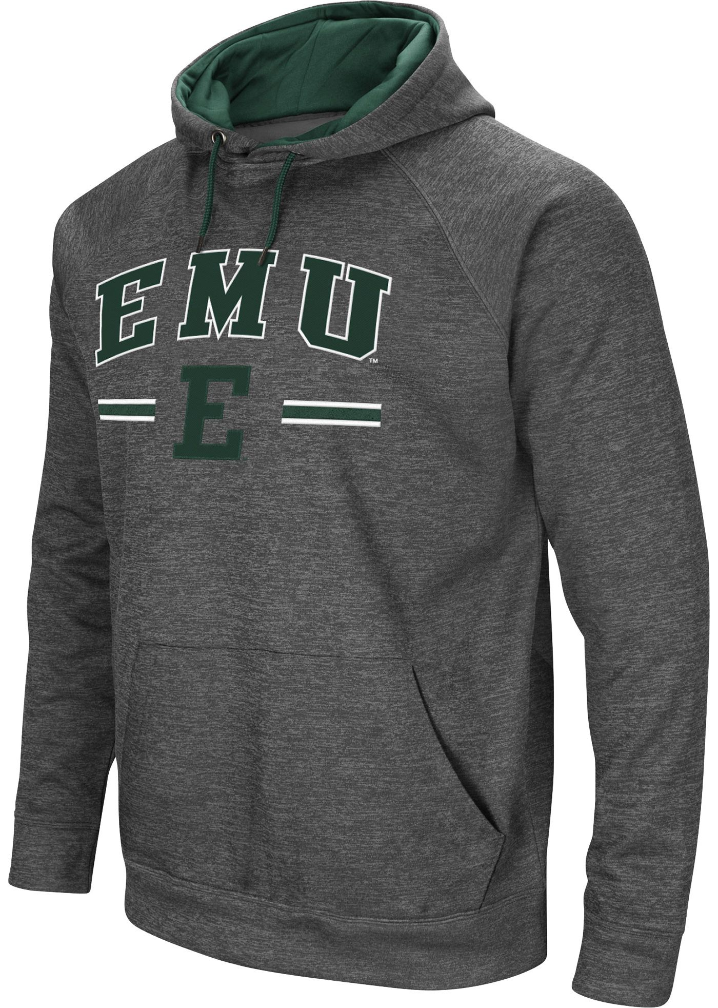 Colosseum Men's Eastern Michigan Eagles Grey Pullover Hoodie