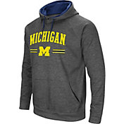 Colosseum Men's Michigan Wolverines Grey Pullover Hoodie