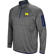 Colosseum Men's Michigan Wolverines Grey Indus River Quarter-Zip Shirt