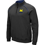 Colosseum Men's Michigan Wolverines Grey Staghorn Quarter-Zip Shirt