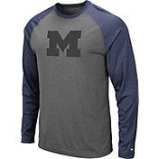 Colosseum Men's Michigan Wolverines Grey Rad Tad Raglan Long Sleeve T-Shirt