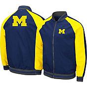 Colosseum Men's Michigan Wolverines Blue Kent Bomber Full-Zip Jacket