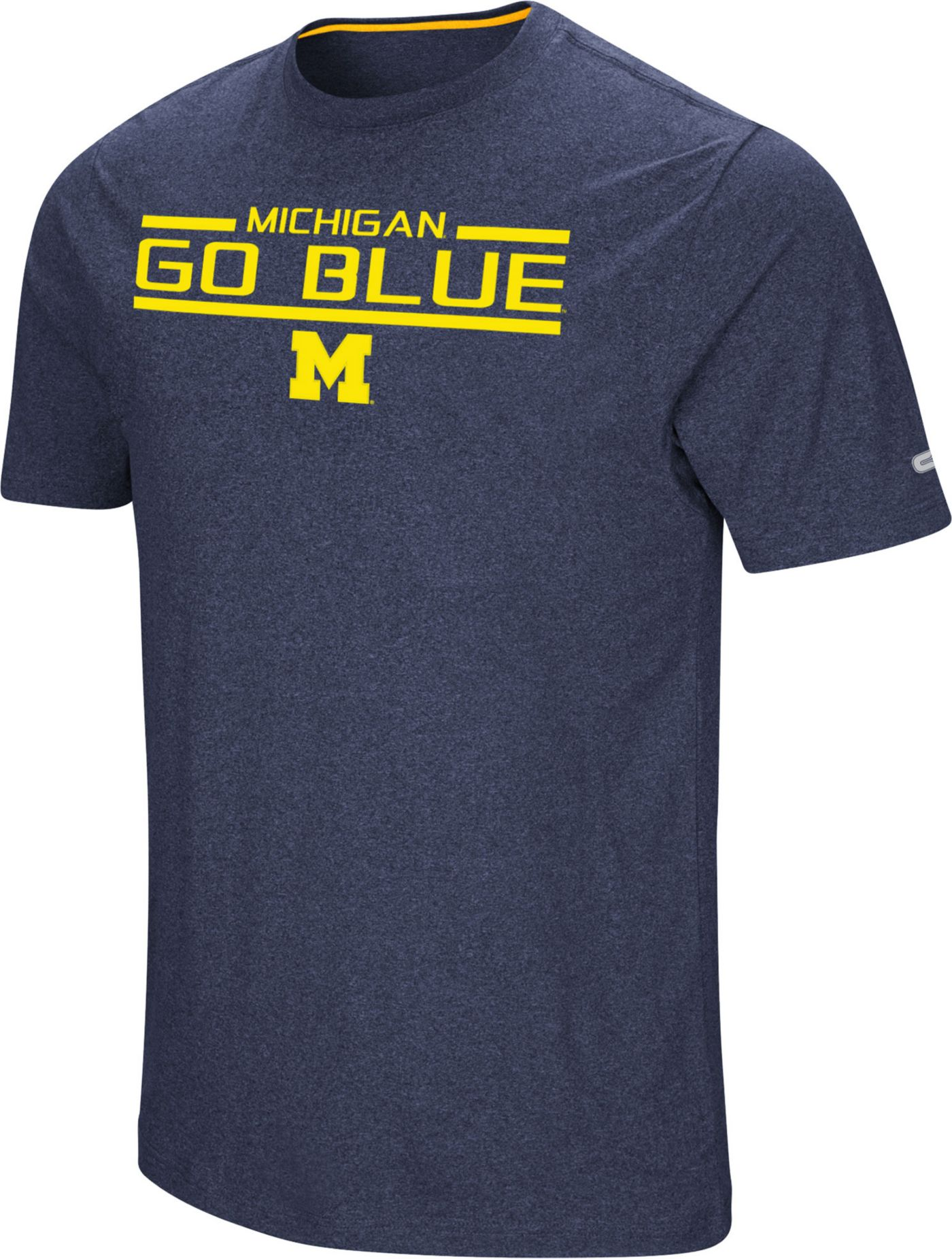 Colosseum Men's Michigan Wolverines Blue Nile T-Shirt