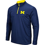 Colosseum Men's Michigan Wolverines Blue Loggerhead Quarter-Zip Shirt