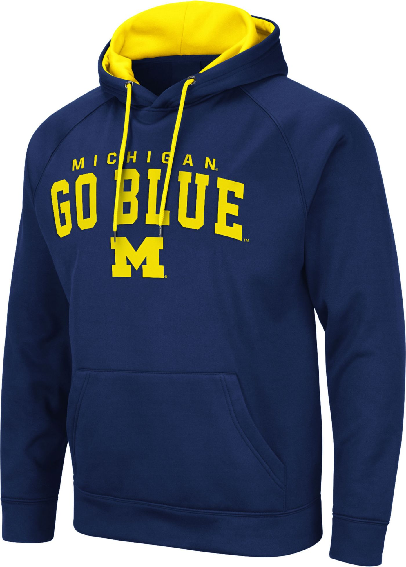 Colosseum Men's Michigan Wolverines Blue Pullover Hoodie