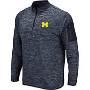 Colosseum Men's Michigan Wolverines Blue Quarter-Zip Shirt