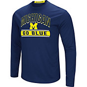 Colosseum Men's Michigan Wolverines Blue Ganges Long Sleeve T-Shirt