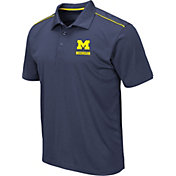 Colosseum Men's Michigan Wolverines Blue Eagle Polo