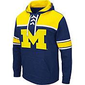 Colosseum Men's Michigan Wolverines Blue Skinner Hockey Pullover Hoodie