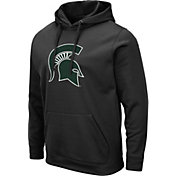 Colosseum Men's Michigan State Spartans Pullover Black Hoodie