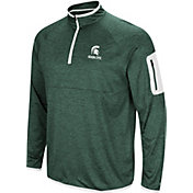 Colosseum Men's Michigan State Spartans Green Indus River Quarter-Zip Shirt