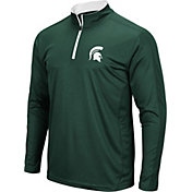 Colosseum Men's Michigan State Spartans Green Loggerhead Quarter-Zip Shirt