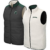 Colosseum Men's Michigan State Spartans Grey Blinky Reversible Full-Zip Vest