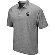 Colosseum Men's Michigan State Spartans Grey Chip Shot Polo