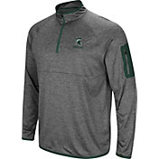 Colosseum Men's Michigan State Spartans Grey Indus River Quarter-Zip Shirt