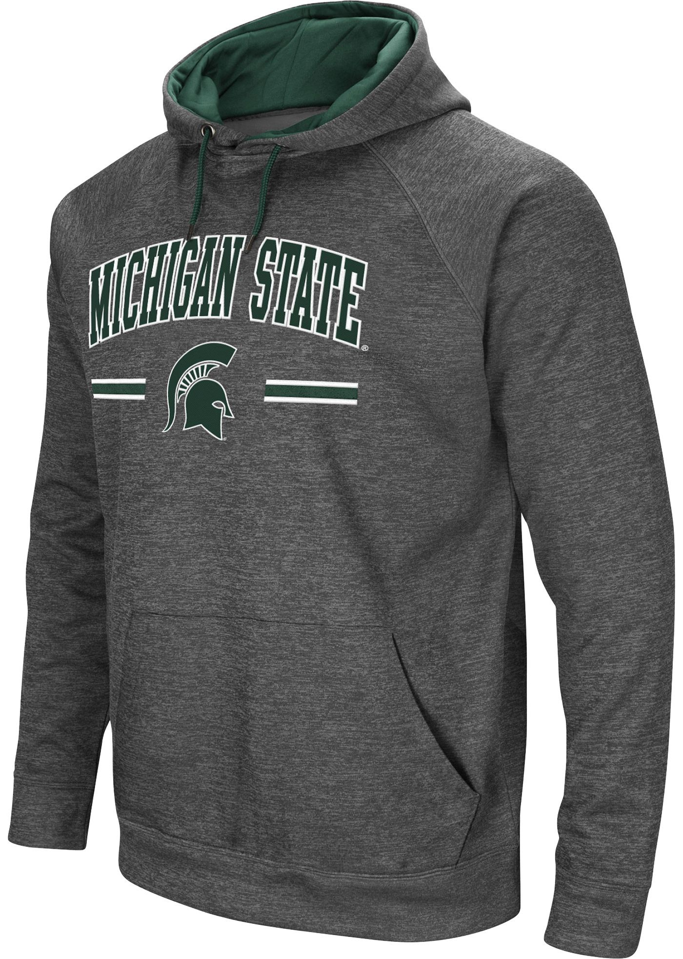 Colosseum Men's Michigan State Spartans Grey Pullover Hoodie