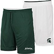 Colosseum Men's Michigan State Spartans Green/White Wiggum Reversible Shorts