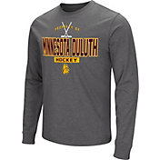 Colosseum Men's Minnesota-Duluth Bulldogs Maroon Dual Blend Long-Sleeve Hockey T-Shirt