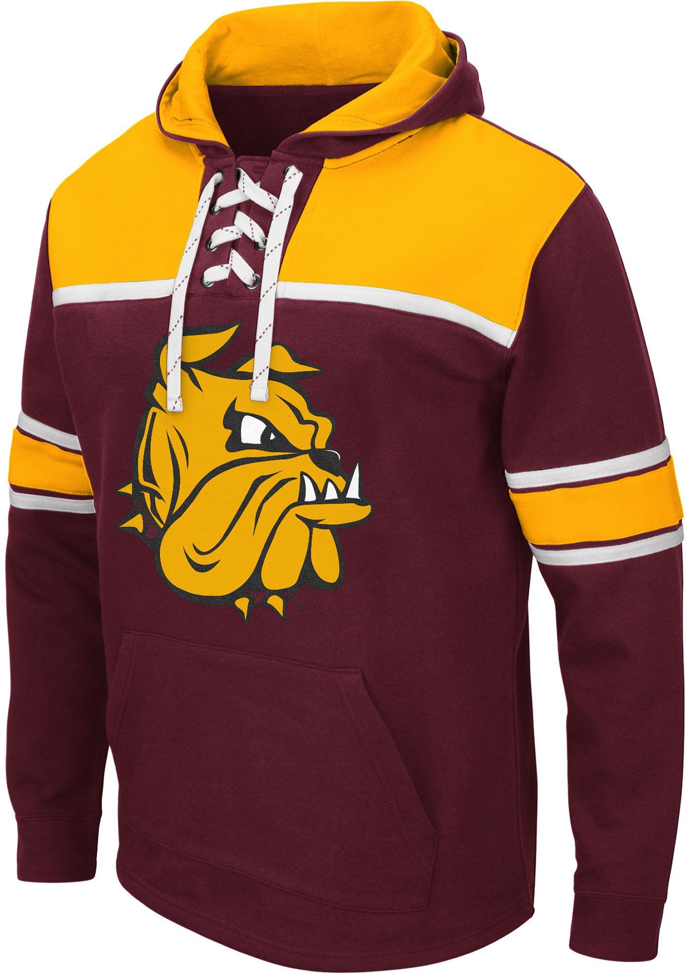 Colosseum Men's Minnesota-Duluth  Bulldogs Maroon Skinner Hockey Pullover Hoodie