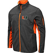Colosseum Men's Miami Hurricanes Grey Bumblebee Man Full-Zip Jacket