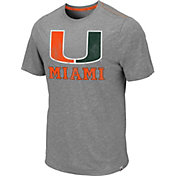 Colosseum Men's Miami Hurricanes Grey Campinas T-Shirt