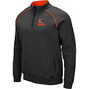 Colosseum Men's Miami Hurricanes Grey VF Staghorn Quarter-Zip Shirt