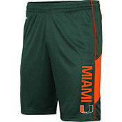 Colosseum Men's Miami Hurricanes Green Grizzly Shorts