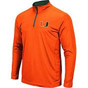 Colosseum Men's Miami Hurricanes Orange Loggerhead Quarter-Zip Shirt