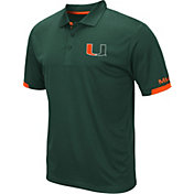 Colosseum Men's Miami Hurricanes Green Fairway Polo