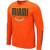 Colosseum Men's Miami Hurricanes Orange Streetcar Long Sleeve T-Shirt