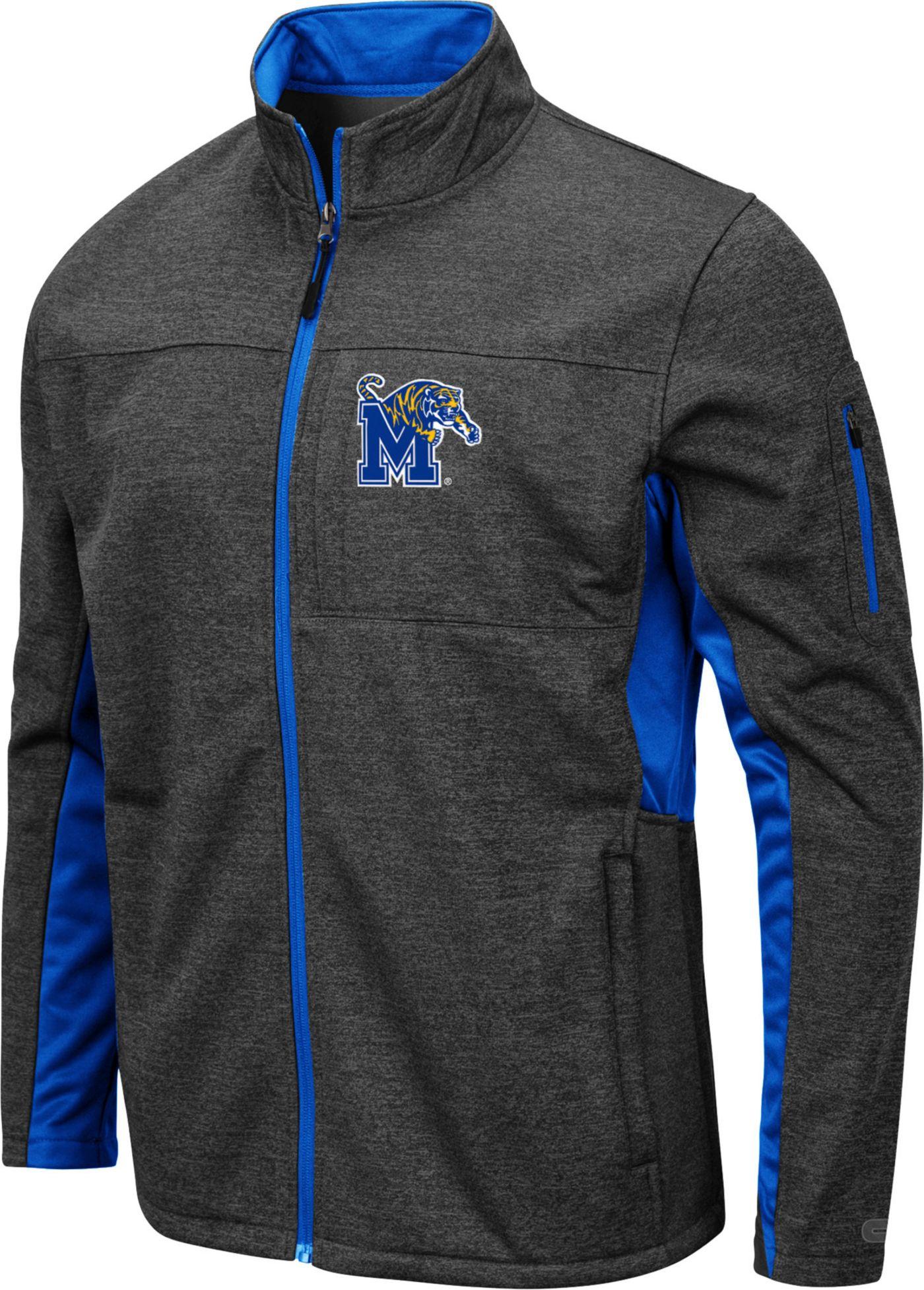 Colosseum Men's Memphis Tigers Grey Bumblebee Man Full-Zip Jacket