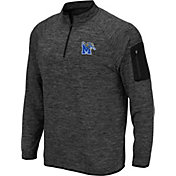 Colosseum Men's Memphis Tigers Grey Quarter-Zip Shirt