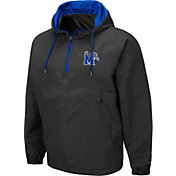 Colosseum Men's Memphis Tigers Grey Dolph Half-Zip Jacket