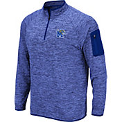 Colosseum Men's Memphis Tigers Blue Quarter-Zip Shirt