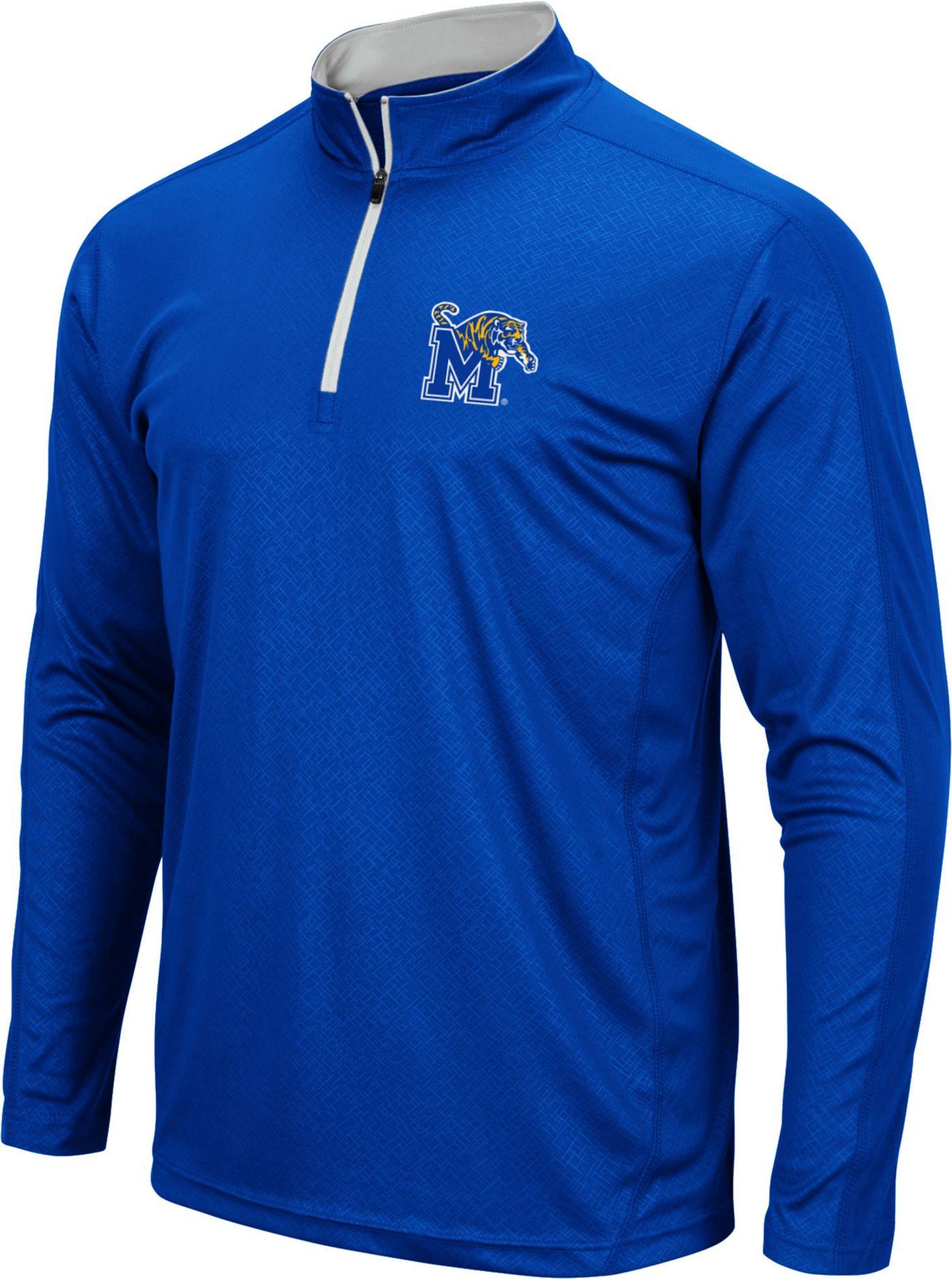 Colosseum Men's Memphis Tigers Blue Loggerhead Quarter-Zip Shirt