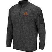Colosseum Men's Minnesota Golden Gophers Grey Indus River Quarter-Zip Shirt
