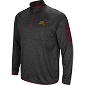 Colosseum Men's Minnesota Golden Gophers Grey Indus River Quarter-Zip Shirt