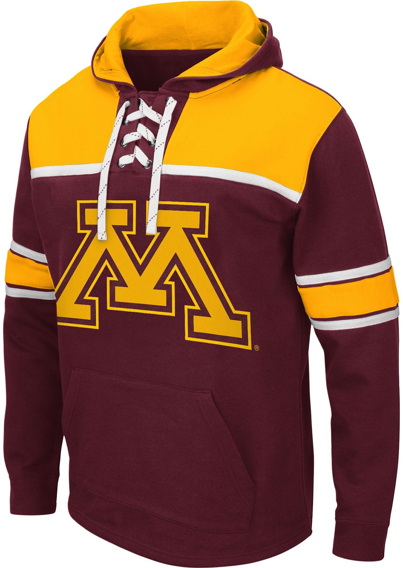 Colosseum Men's Minnesota Golden Gophers Maroon Skinner Hockey Pullover Hoodie