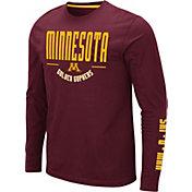Colosseum Men's Minnesota Golden Gophers Maroon Streetcar Long Sleeve T-Shirt