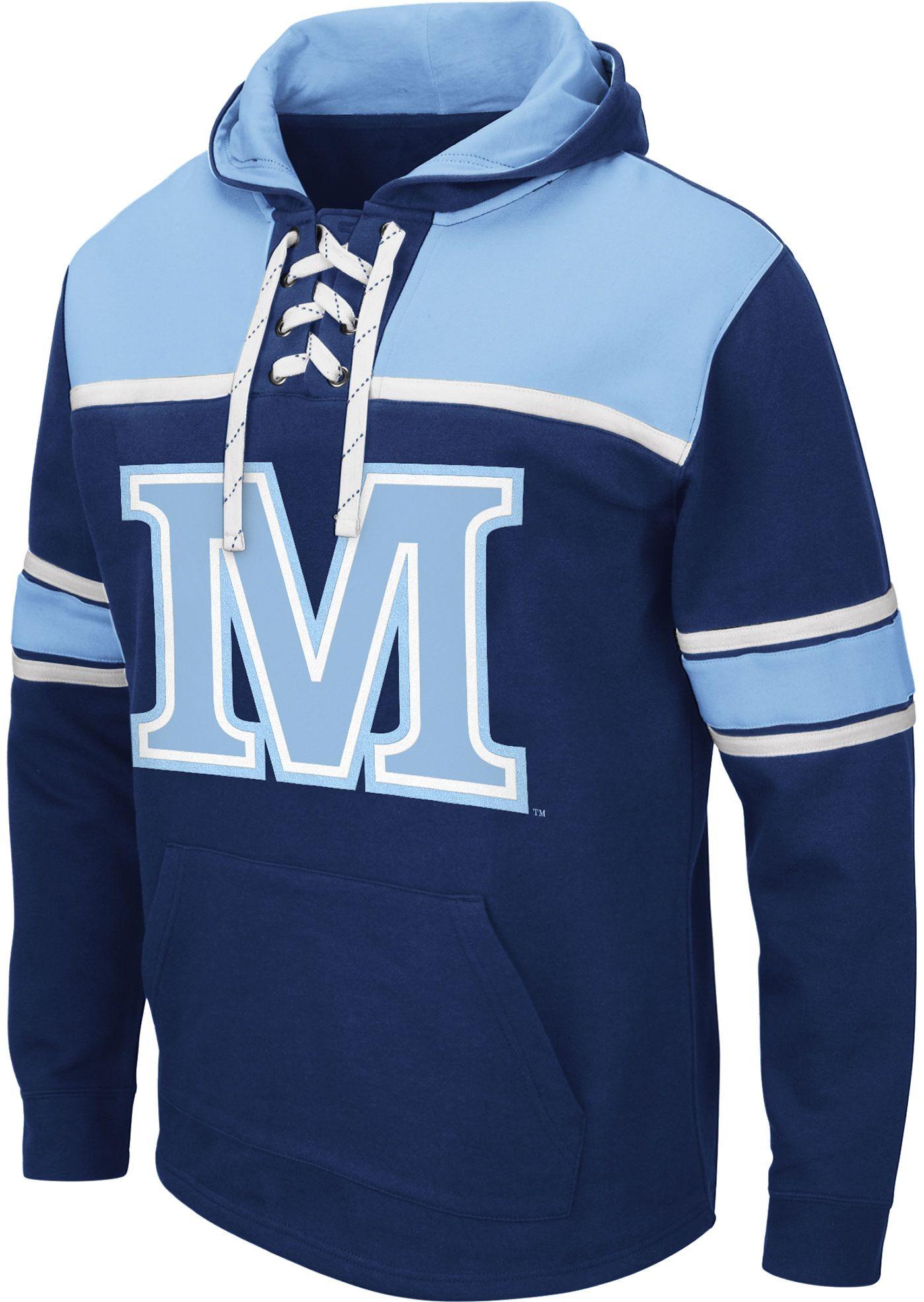 Colosseum Men's Maine Black Bears Blue Skinner Hockey Pullover Hoodie