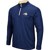 Colosseum Men's Montana State Bobcats Blue Loggerhead Quarter-Zip Shirt
