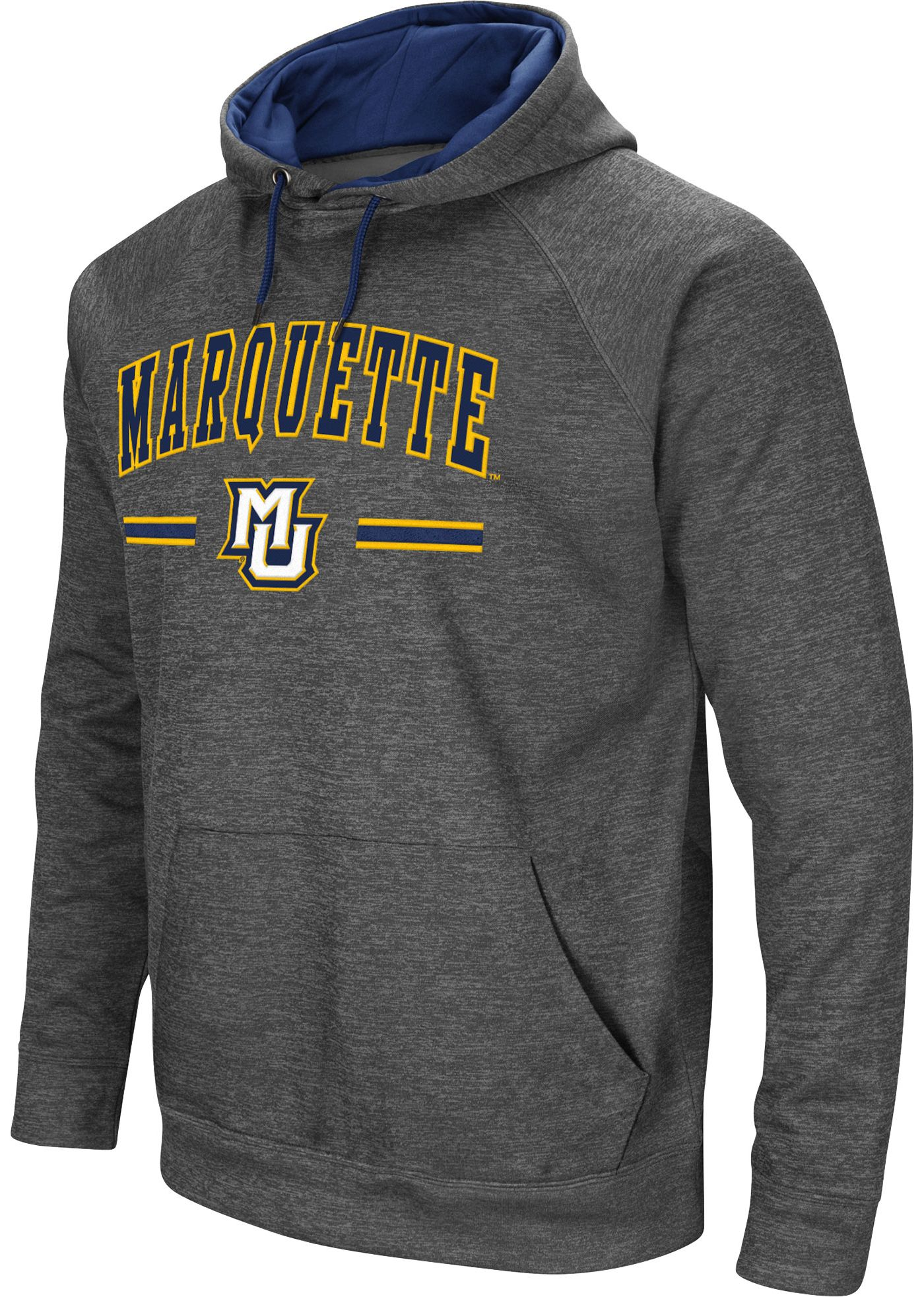 Colosseum Men's Marquette Golden Eagles Grey Pullover Hoodie
