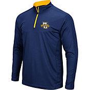 Colosseum Men's Marquette Golden Eagles Blue Loggerhead Quarter-Zip Shirt